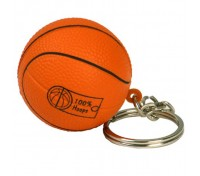 Basketball Stress Ball Key Tag