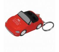 Small Car Stress Ball Key Tag