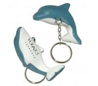 Dolphin Stress Ball Key Tag