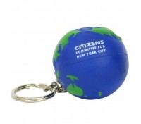 Earthball Stress Ball Key Tag
