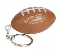 Football Stress Ball Key Tag