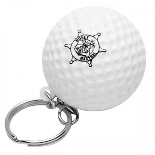 Golf Ball Stress Ball Key Tag