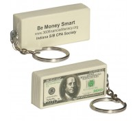 $100 Bill Stress Ball Key Tag