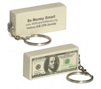 $100 Bill Stress Ball Key Tag
