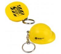 Hard Hat Stress Ball Key Tag