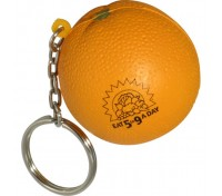 Orange Stess Ball Key Tag