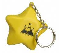 Star Stress Ball Key Tag