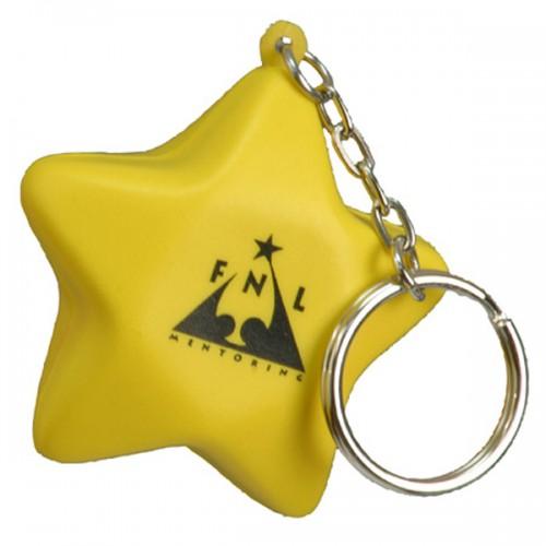 Star Stress Ball Key Tag