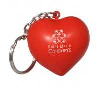 Heart Stress Ball Key Tag