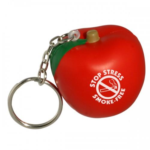 Apple Stress Ball Key Tag