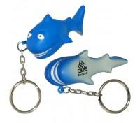 Shark Stress Ball Key Tag