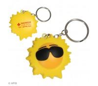 Cool Sun Stress Ball Key Tag