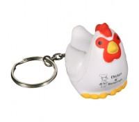 Chicken Stress Ball Key Tag