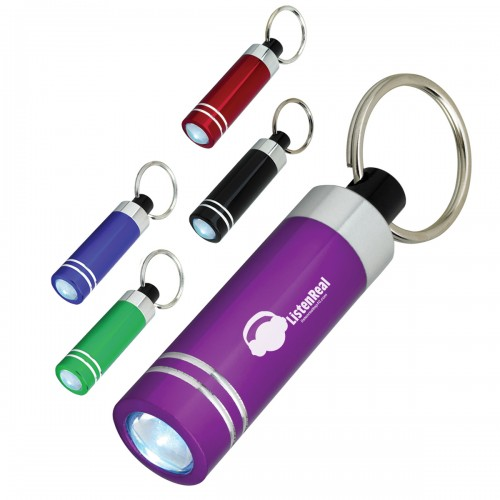 Mini Aluminum LED Light Key Tag