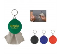 Rubber Key Tag With Microfiber Cloth