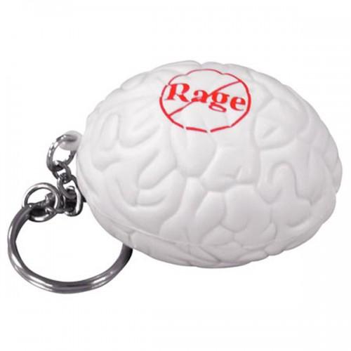 Brain Stress Ball Key Tag