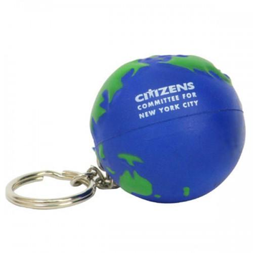 Earthball Stress Ball Key Tag