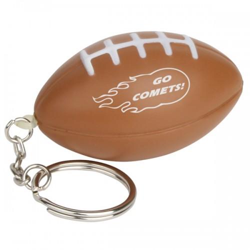 Football Stress Ball Key Tag