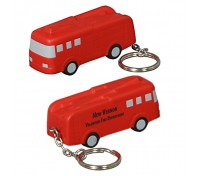 Fire Truck Stress Ball Key Tag