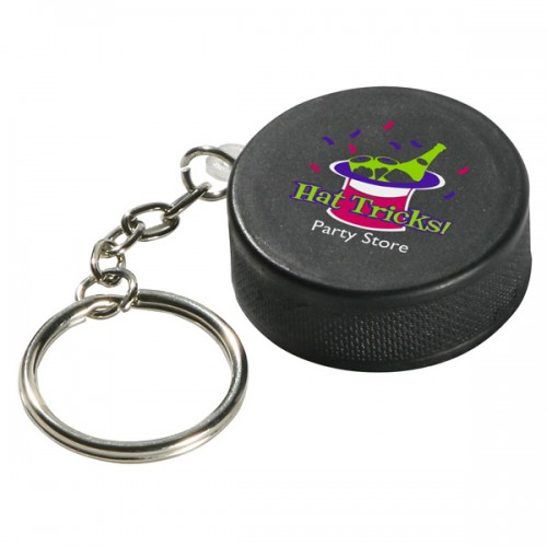 Hockey Puck Stress Ball Key Tag