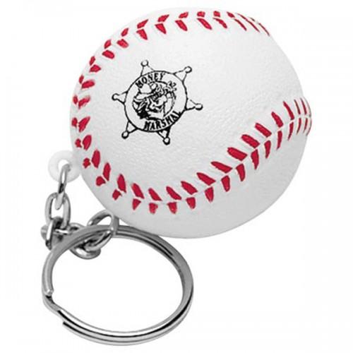 Baseball Stress Ball Key Tag