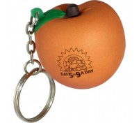 Peach Stress Ball Key Tag