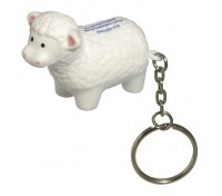 Sheep Stress Ball Key Tag