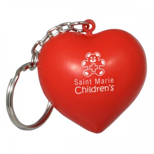 Heart Stress Ball Key Tag