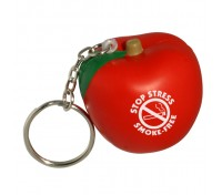 Apple Stress Ball Key Tag