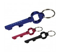 Key Shape Bottle Opener Key Ring