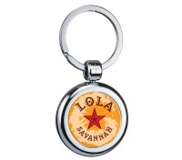 Round Two Sided Budget Chrome Plated Domed Keytags