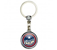 Round Two Sided Die Cast Metal Domed Keytag