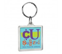 Square Crystal Keytag