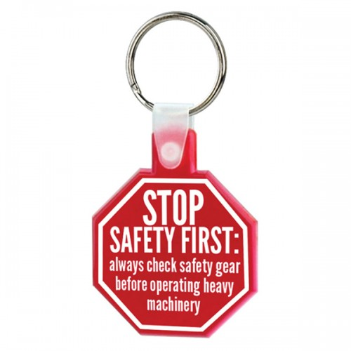 Stop Sign Soft Keytag